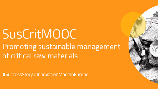 Success story of SuCritMat featured on EIT RawMaterials